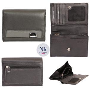 Etälukusuojattu nahkainen lompakko. Tilaihme, hillitty ja tyylikäs